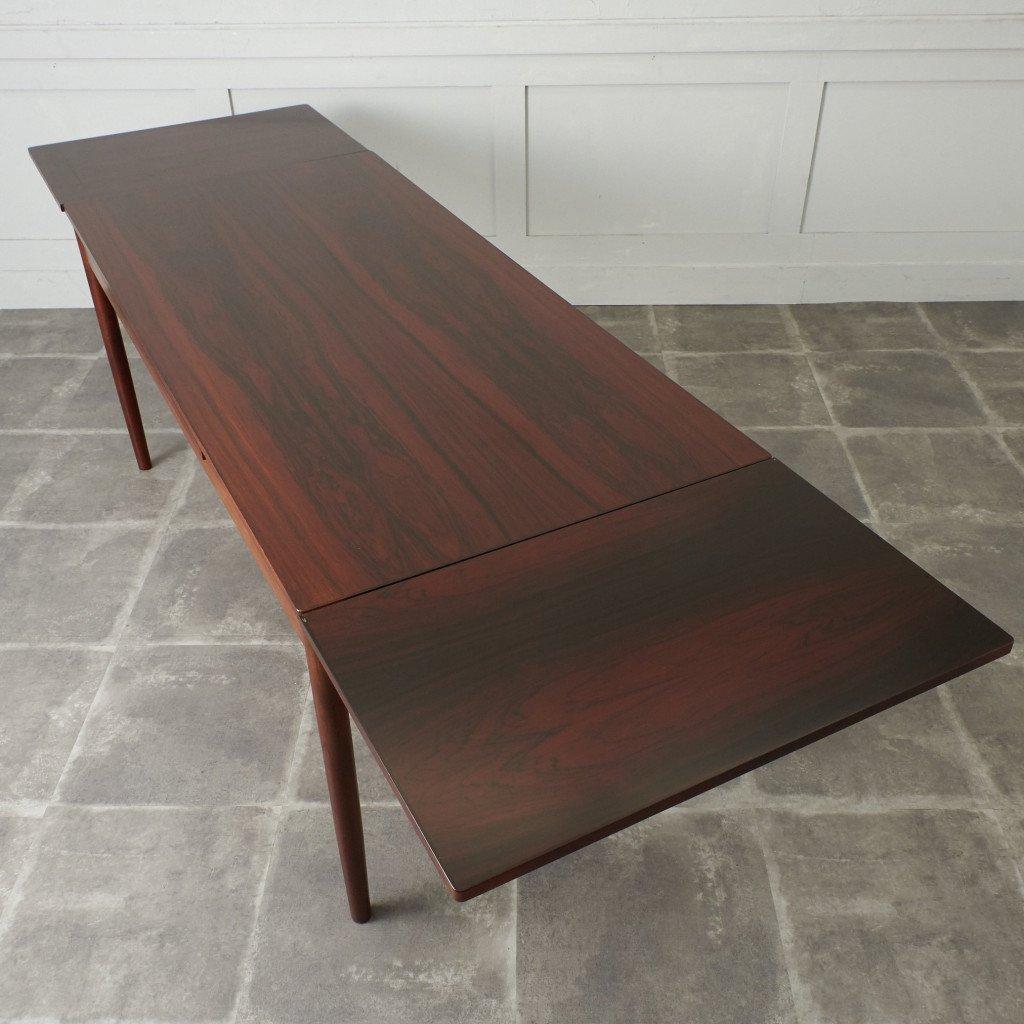 #42783 北欧ヴィンテージ ローズウッド材 ドローリーフテーブル コンディション画像 - 12