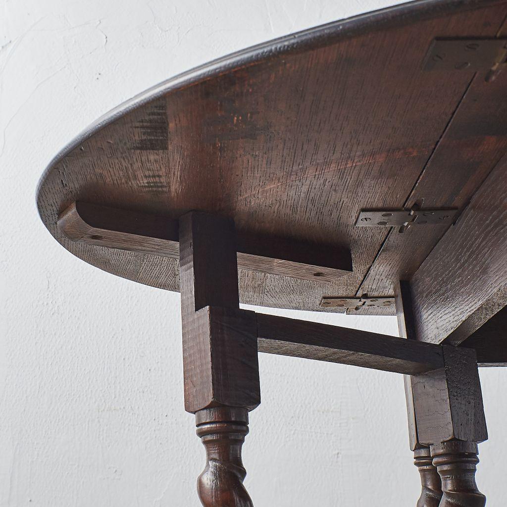 #40970 英国アンティーク ドロップリーフ ゲートレッグテーブル コンディション画像 - 7
