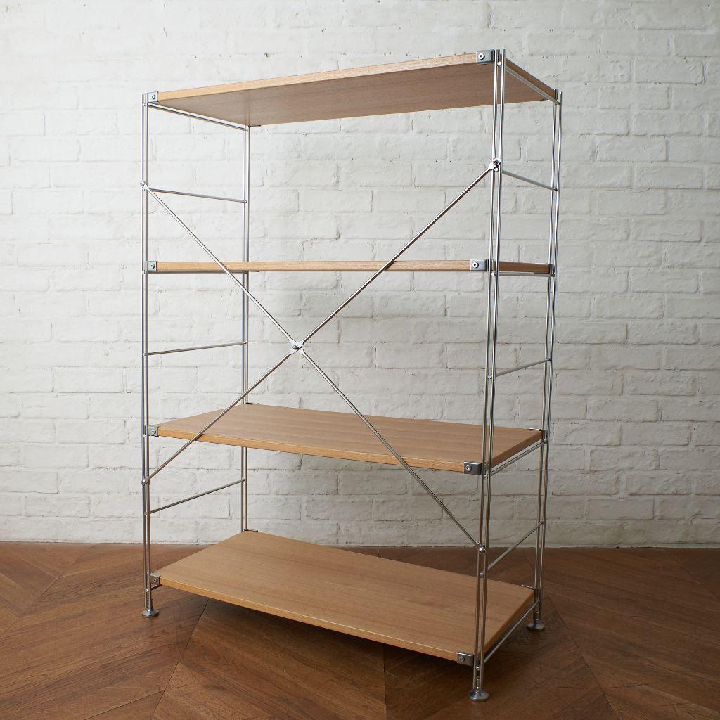 無印良品 MUJI ステンレスユニットシェルフ オーク材棚セット