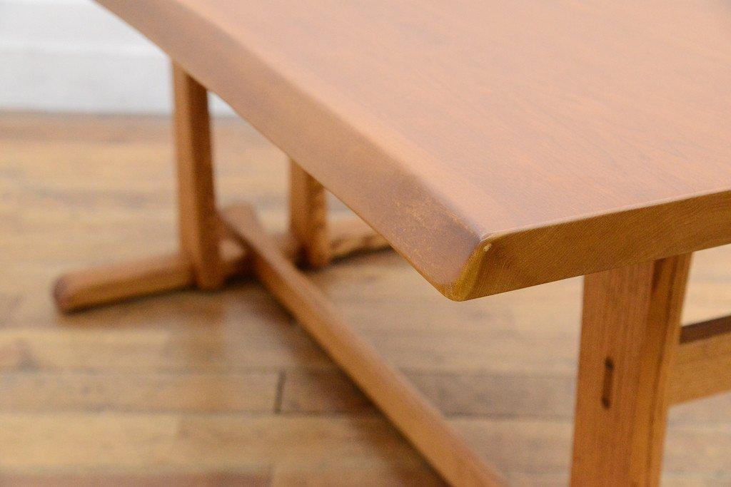 #33639 無垢材 クルミ x オークダイニングテーブル コンディション画像 - 6