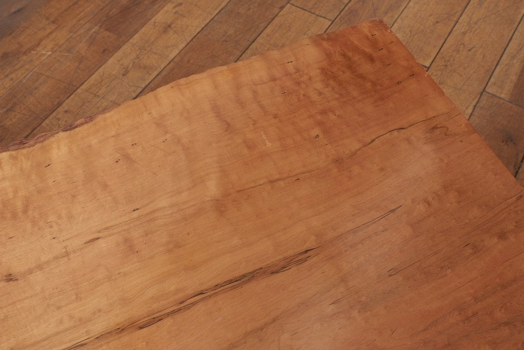 #37624 墨流し杢 スポルテッド 栃無垢材 一枚板座卓 コンディション画像 - 16