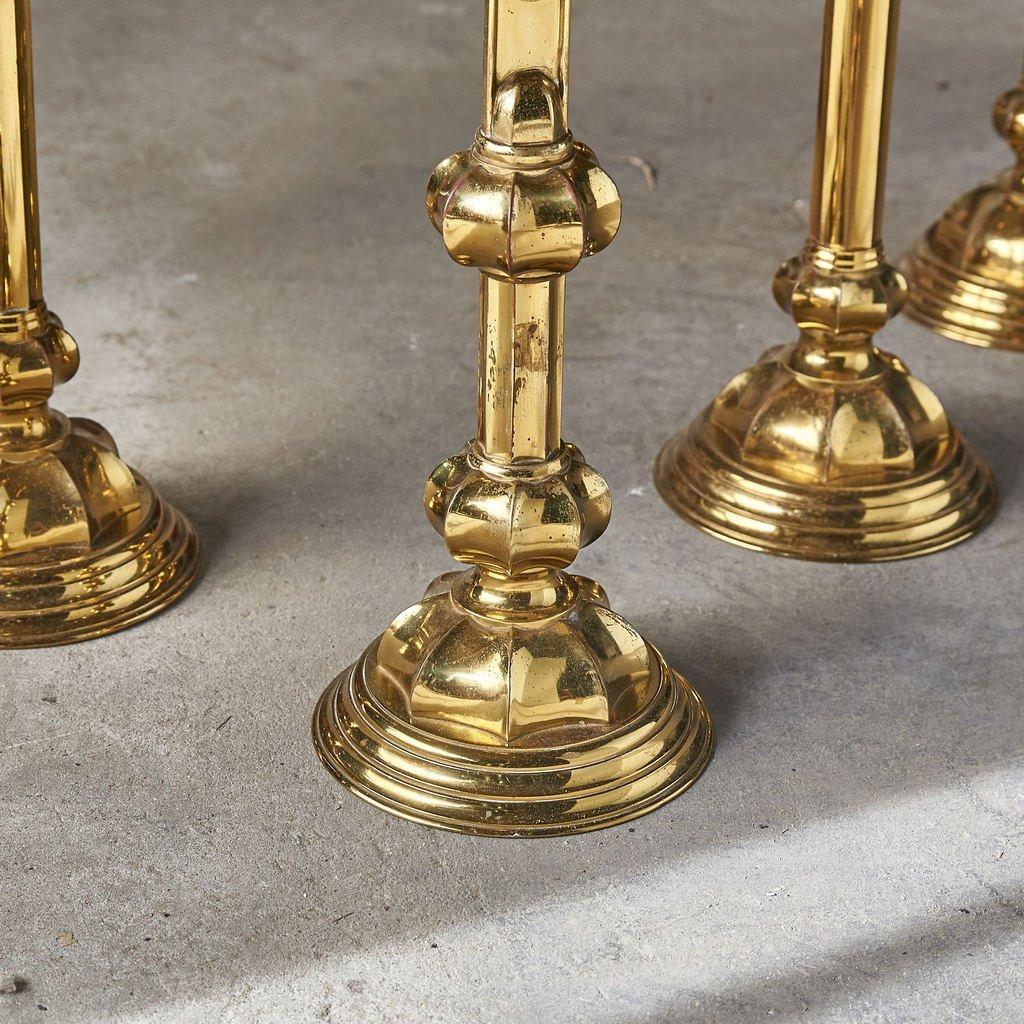 真鍮製 十字架 キャンドルスタンド 5点セット