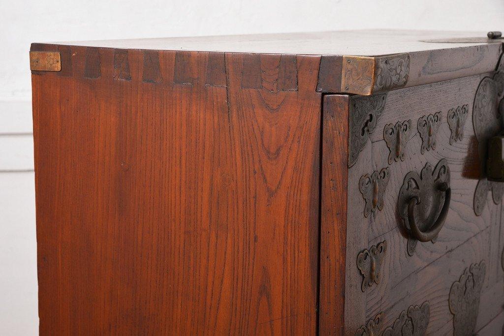 #31825 李朝家具 無垢材 箪笥 コンディション画像 - 15