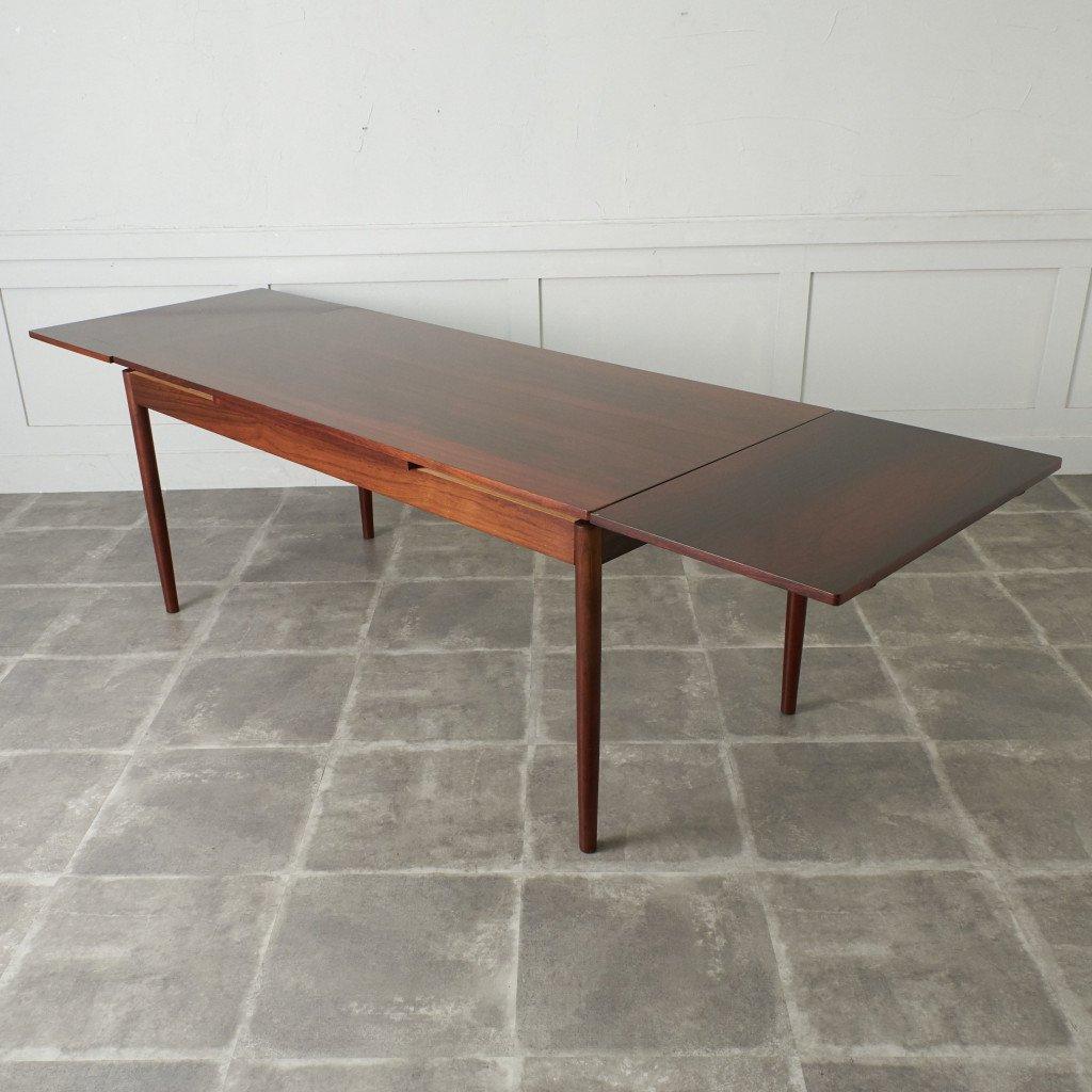 #42783 北欧ヴィンテージ ローズウッド材 ドローリーフテーブル コンディション画像 - 10