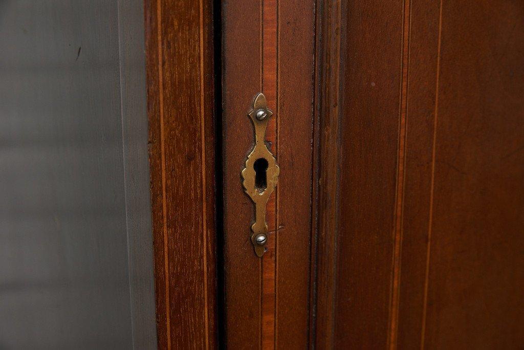 #39191 英国アンティーク 木象嵌 キャビネット コンディション画像 - 9