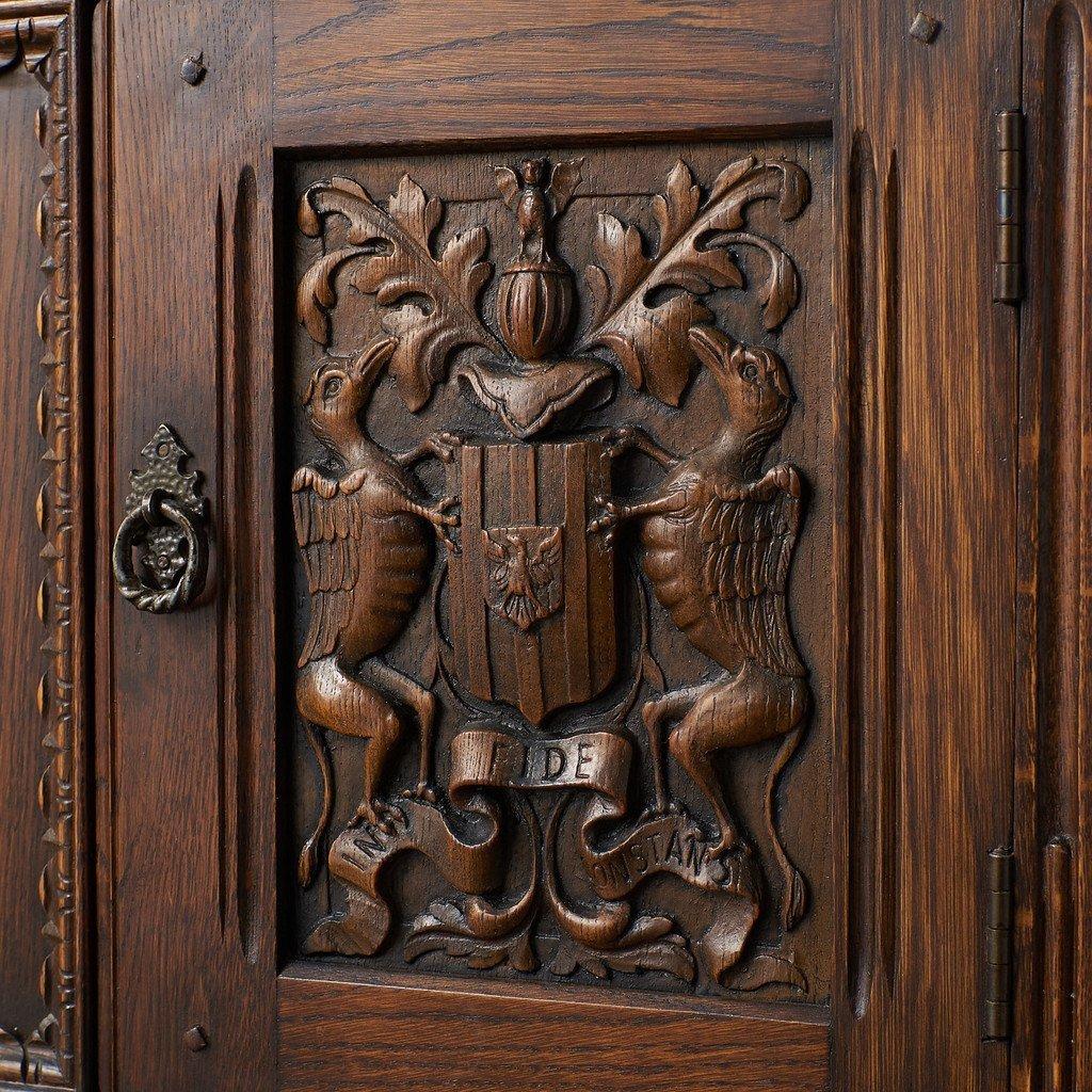 #39290 イギリス 1940年代 オーク 木彫刻 キャビネット コンディション画像 - 6