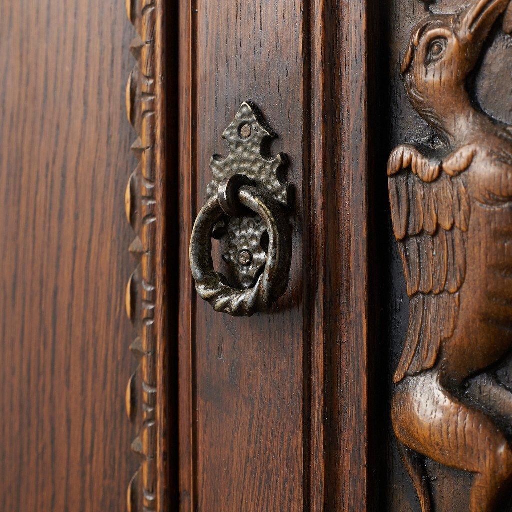 #39290 イギリス 1940年代 オーク 木彫刻 キャビネット コンディション画像 - 7