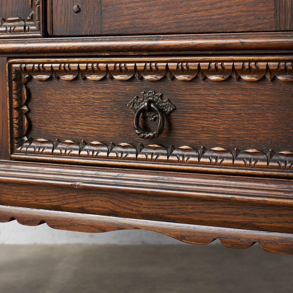 #39290 イギリス 1940年代 オーク 木彫刻 キャビネット コンディション画像 - 8