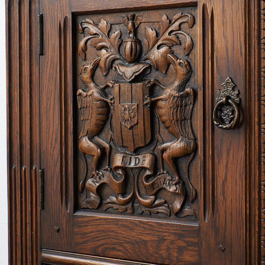 #39290 イギリス 1940年代 オーク 木彫刻 キャビネット コンディション画像 - 10