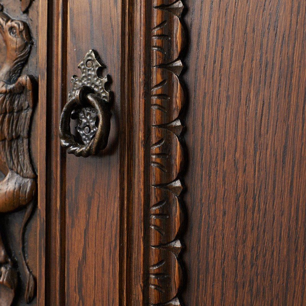 #39290 イギリス 1940年代 オーク 木彫刻 キャビネット コンディション画像 - 11