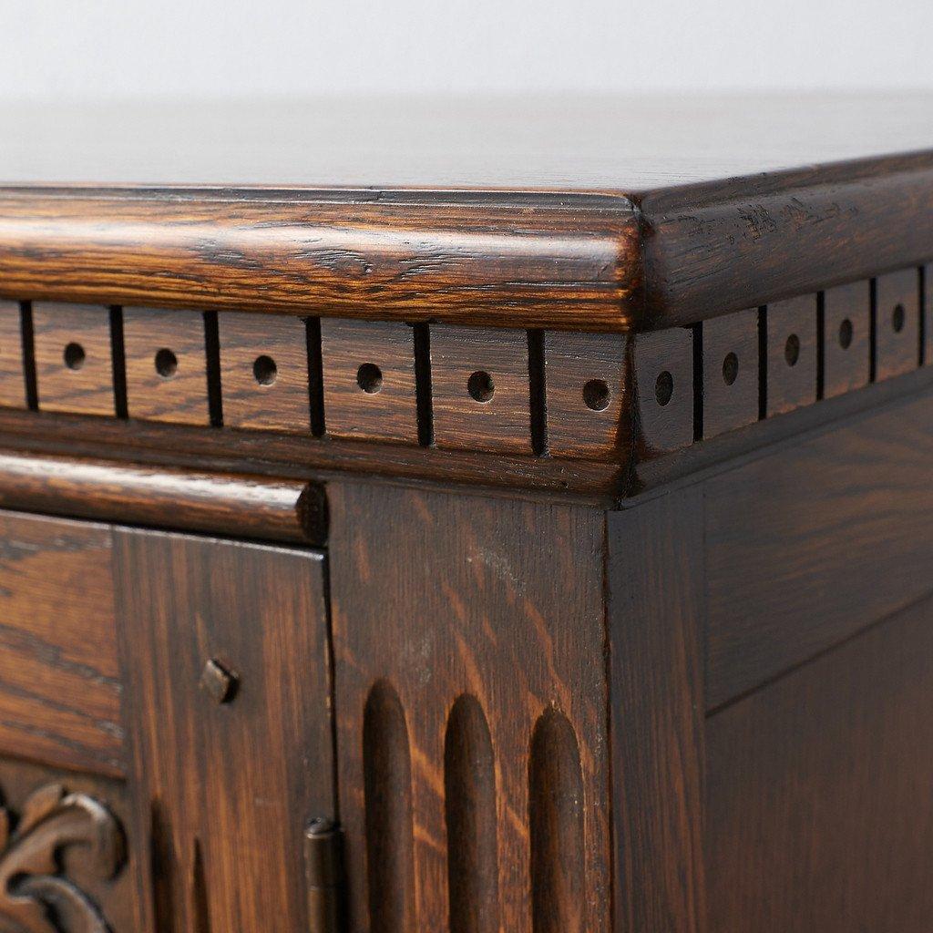 #39290 イギリス 1940年代 オーク 木彫刻 キャビネット コンディション画像 - 15