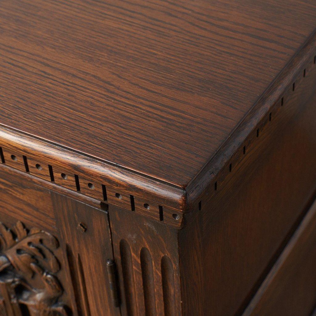 #39290 イギリス 1940年代 オーク 木彫刻 キャビネット コンディション画像 - 16