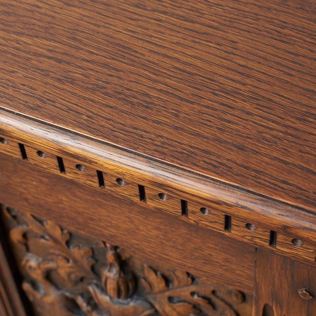 #39290 イギリス 1940年代 オーク 木彫刻 キャビネット コンディション画像 - 17