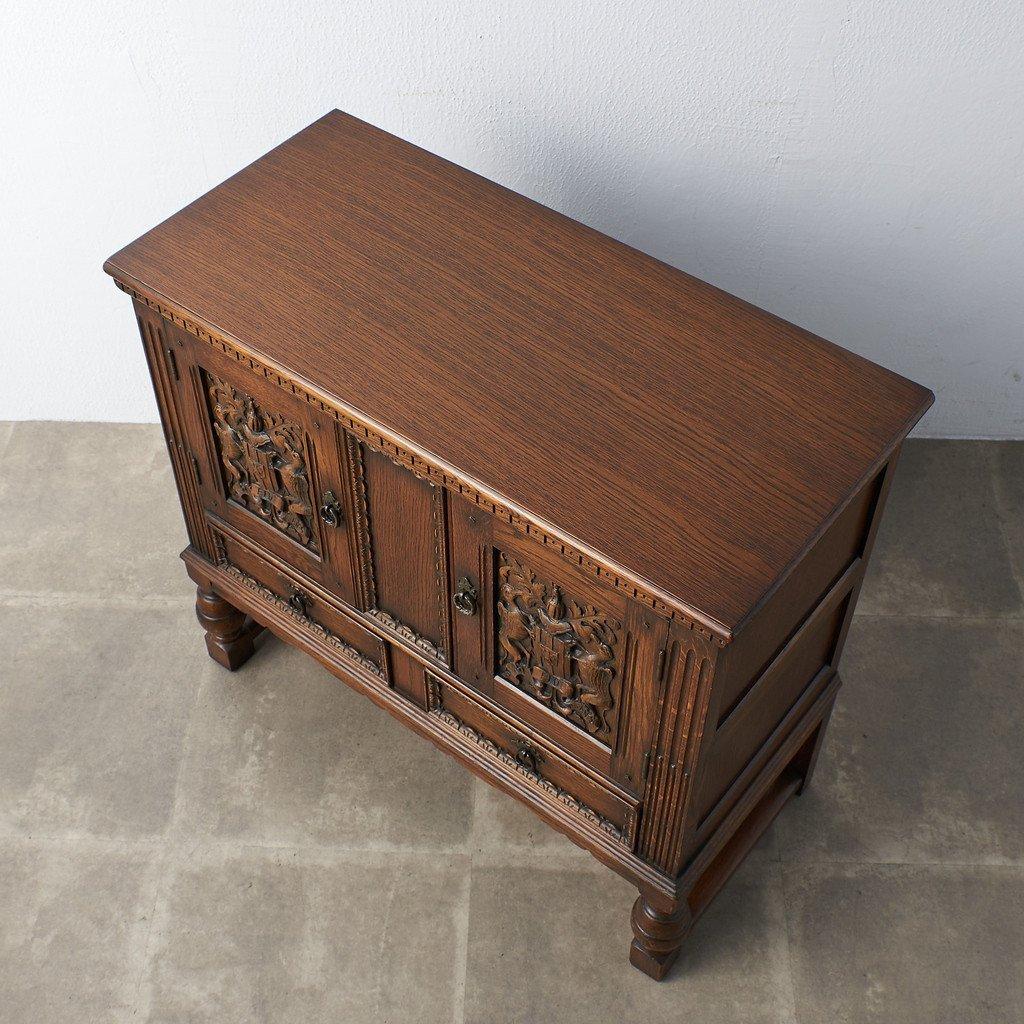 #39290 イギリス 1940年代 オーク 木彫刻 キャビネット コンディション画像 - 19