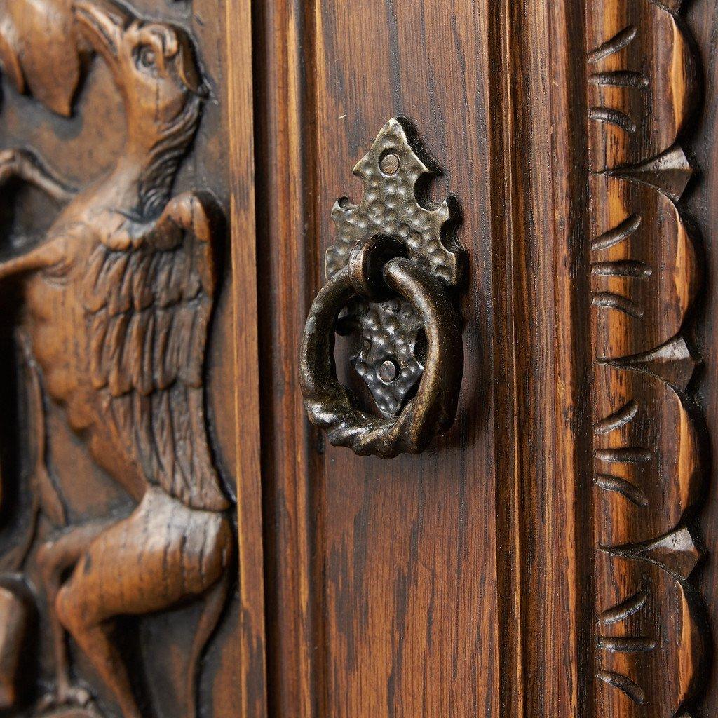 #39290 イギリス 1940年代 オーク 木彫刻 キャビネット コンディション画像 - 20