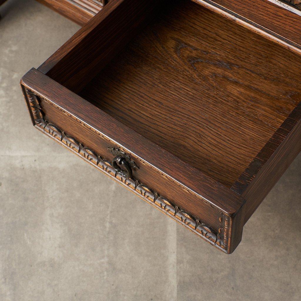 #39290 イギリス 1940年代 オーク 木彫刻 キャビネット コンディション画像 - 21
