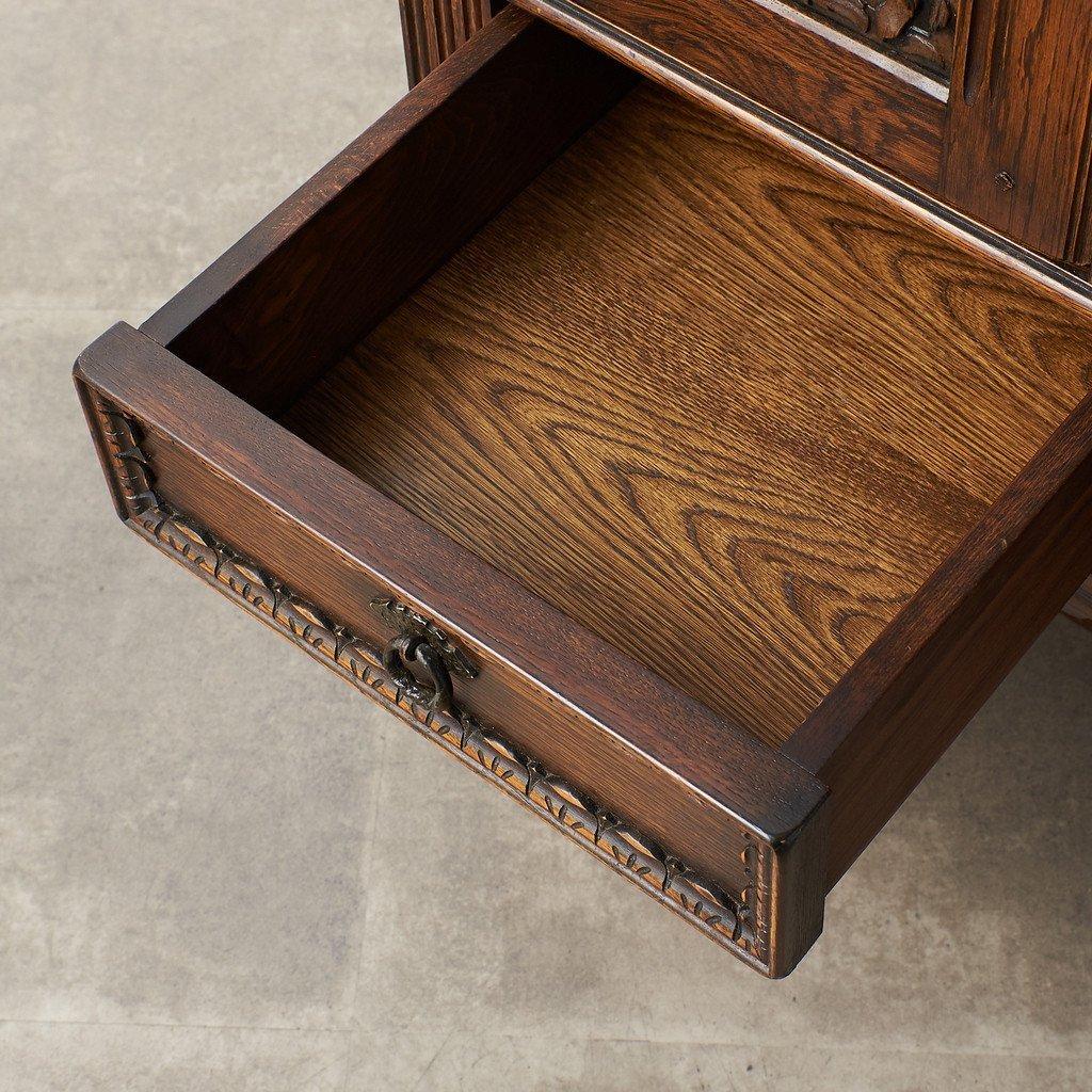 #39290 イギリス 1940年代 オーク 木彫刻 キャビネット コンディション画像 - 22