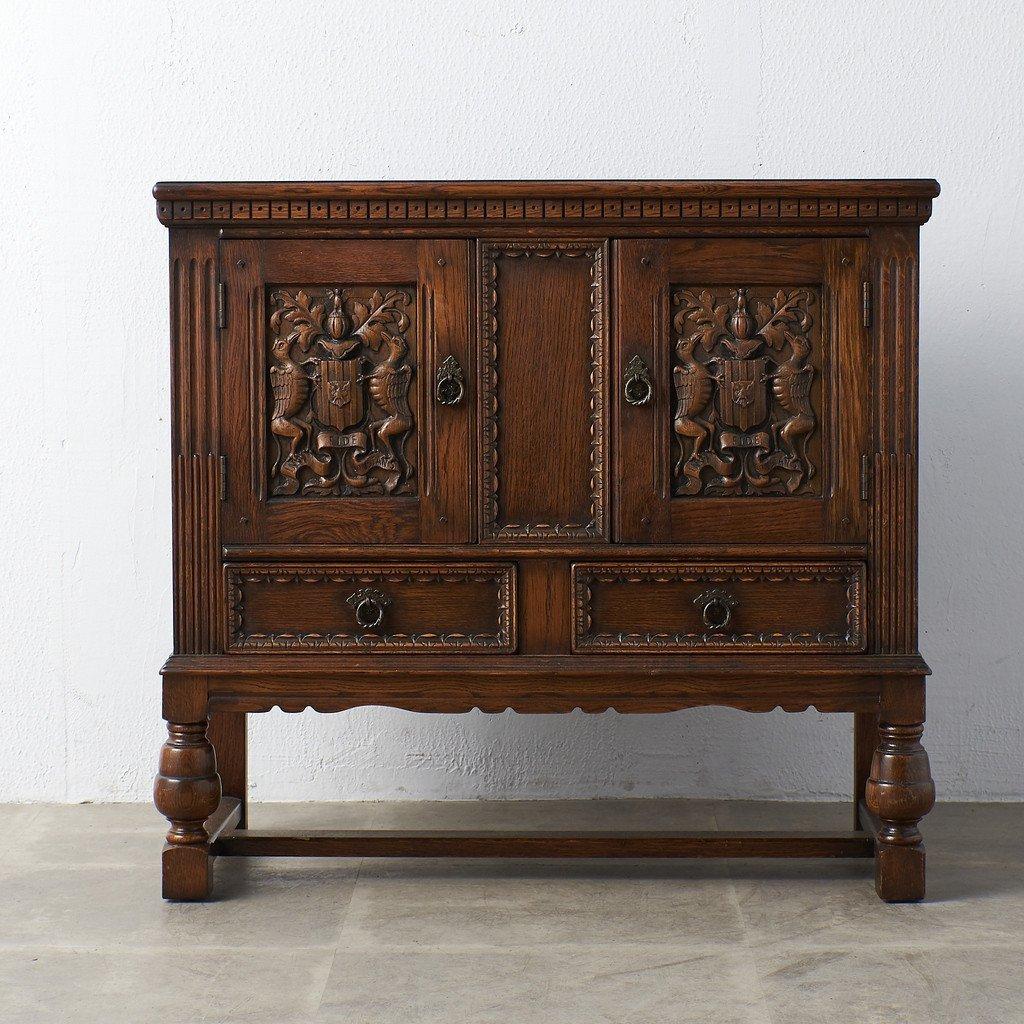 #39290 イギリス 1940年代 オーク 木彫刻 キャビネット コンディション画像 - 23