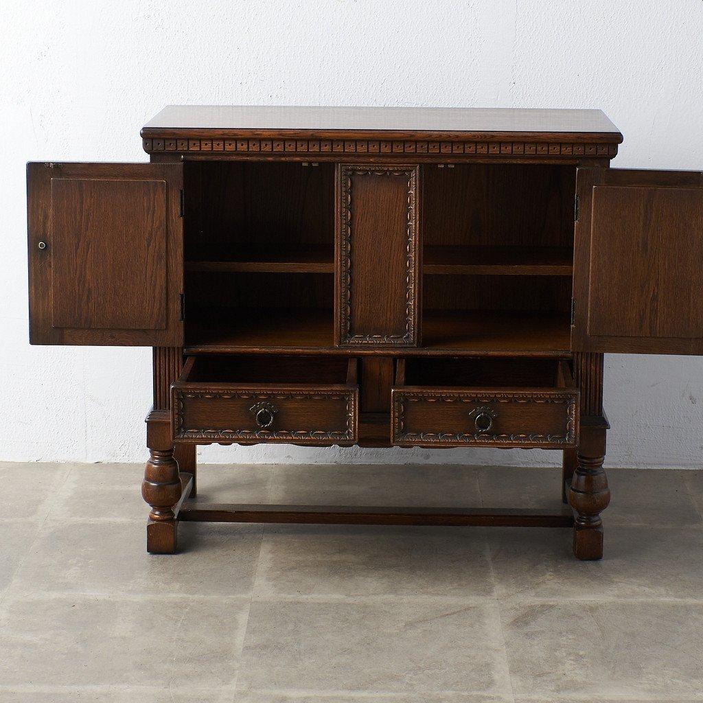 #39290 イギリス 1940年代 オーク 木彫刻 キャビネット コンディション画像 - 25