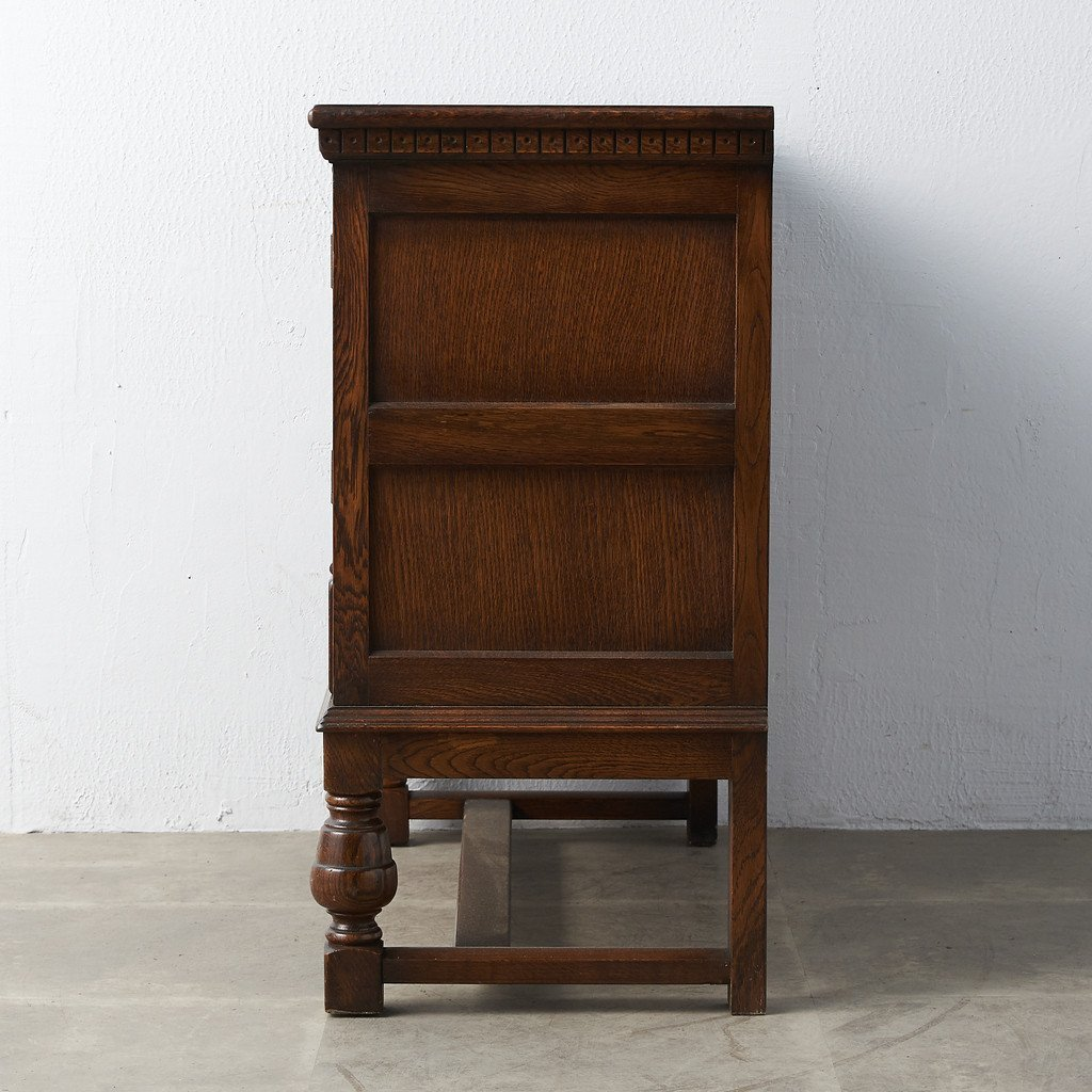 #39290 イギリス 1940年代 オーク 木彫刻 キャビネット コンディション画像 - 28