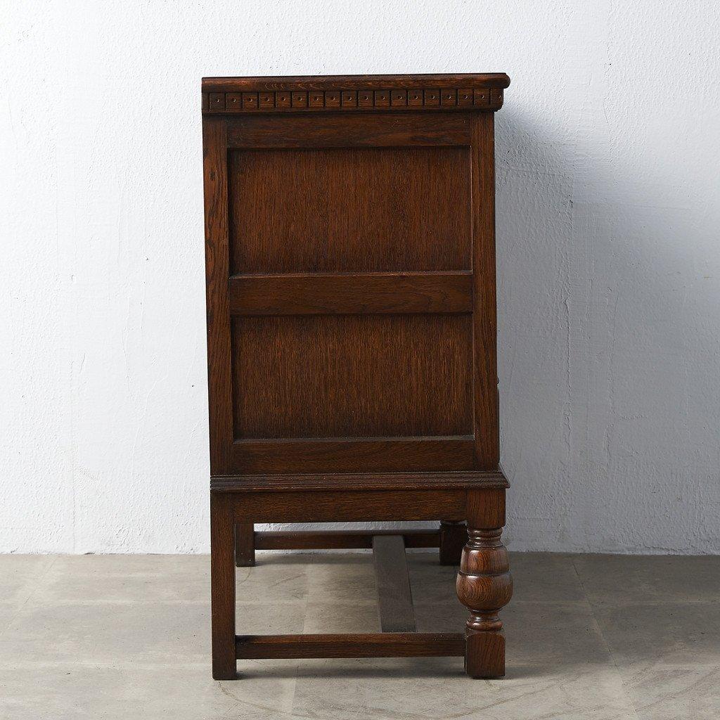 #39290 イギリス 1940年代 オーク 木彫刻 キャビネット コンディション画像 - 32