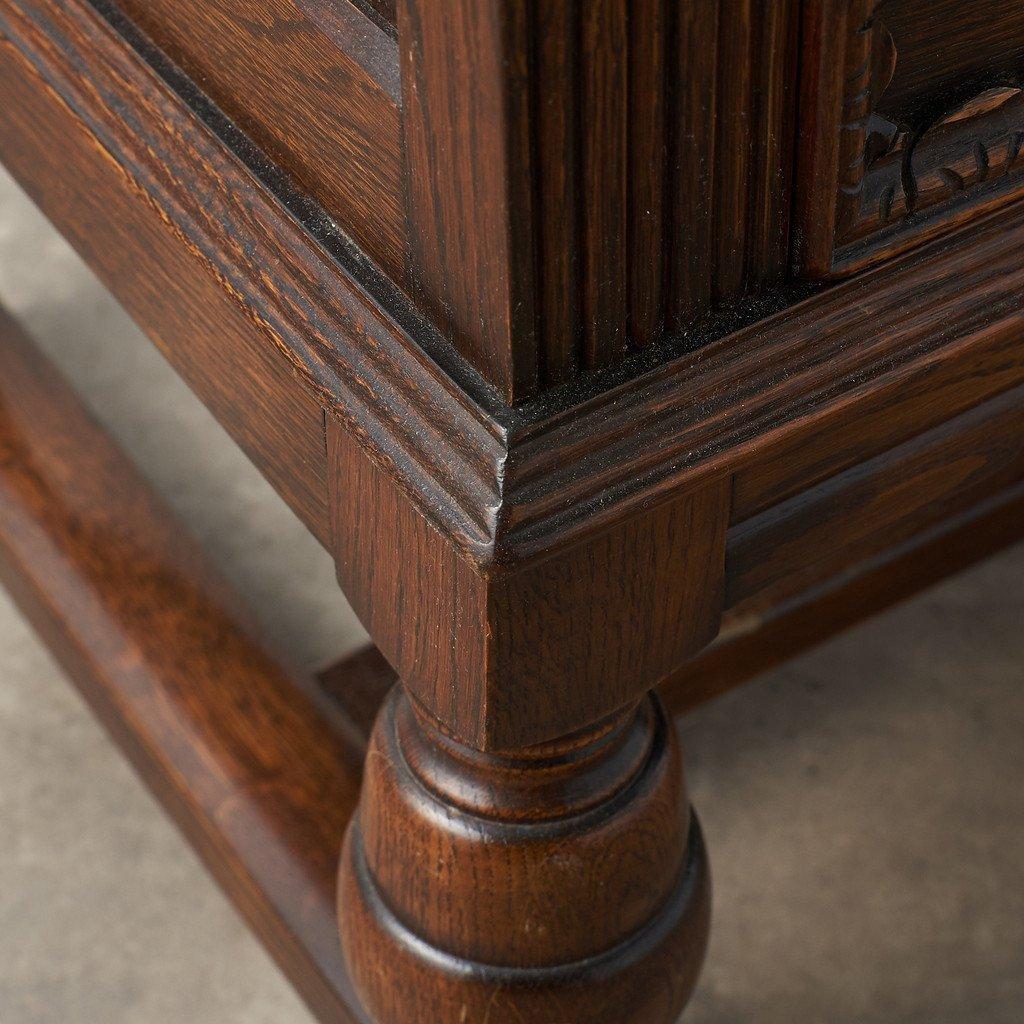 #39290 イギリス 1940年代 オーク 木彫刻 キャビネット コンディション画像 - 34