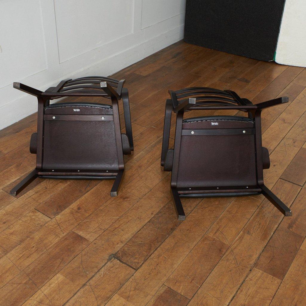 天童木工 Tendo ラダーバック アームチェア 2脚セット
