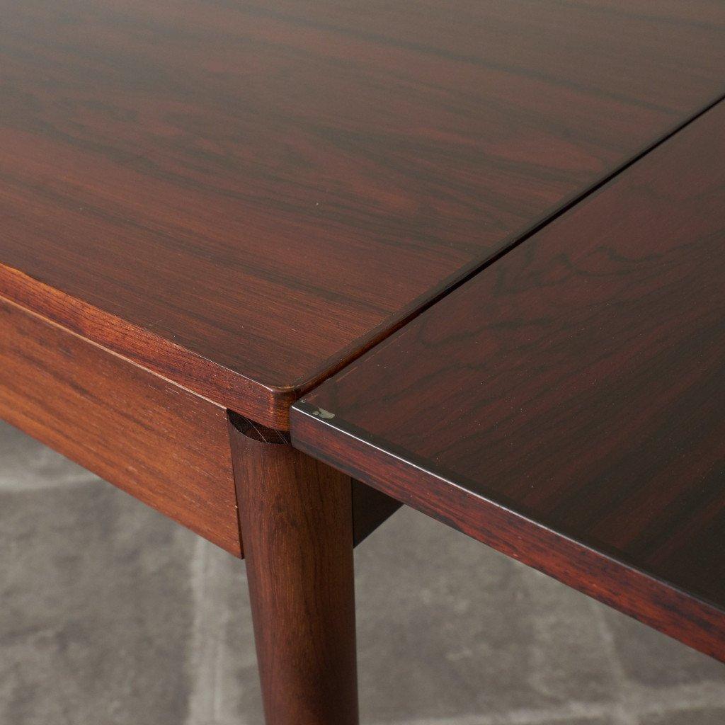 #42783 北欧ヴィンテージ ローズウッド材 ドローリーフテーブル コンディション画像 - 11