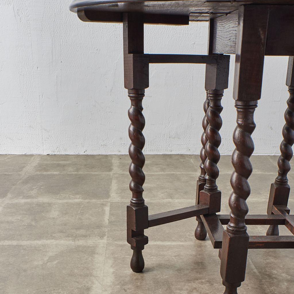 #40970 英国アンティーク ドロップリーフ ゲートレッグテーブル コンディション画像 - 6