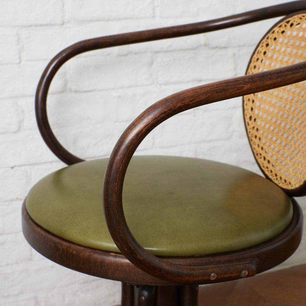 マルニ maruni 曲げ木 回転椅子 / 座面張替済