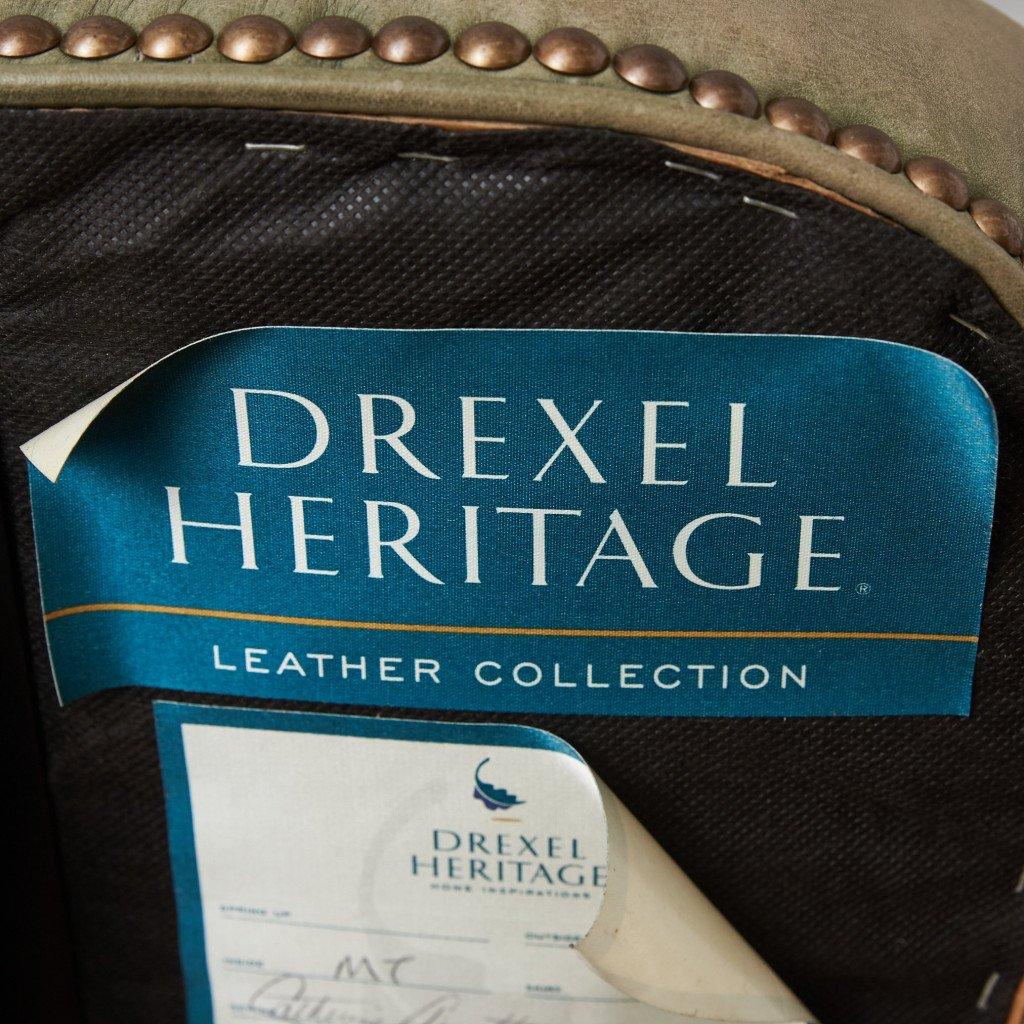 ドレクセル・ヘリテイジ DREXEL HERITAGE LEATHER COLLECTION 本革張り デスクチェア