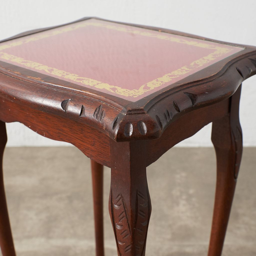 英国クラシック ガラストップ ネストテーブル
