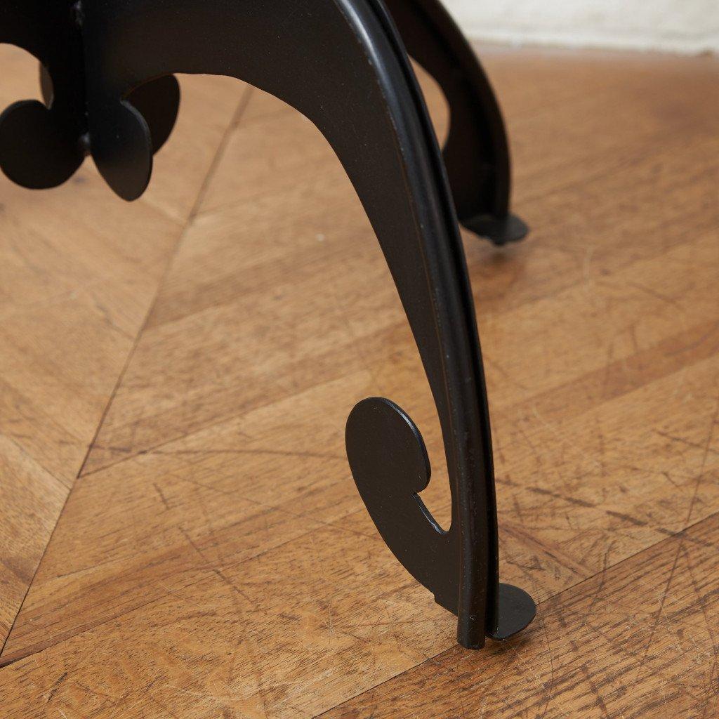 クラシックモダン ガラストップテーブル