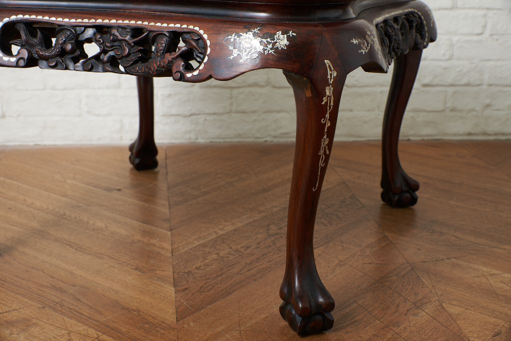 螺鈿細工 唐木 花梨 テーブル