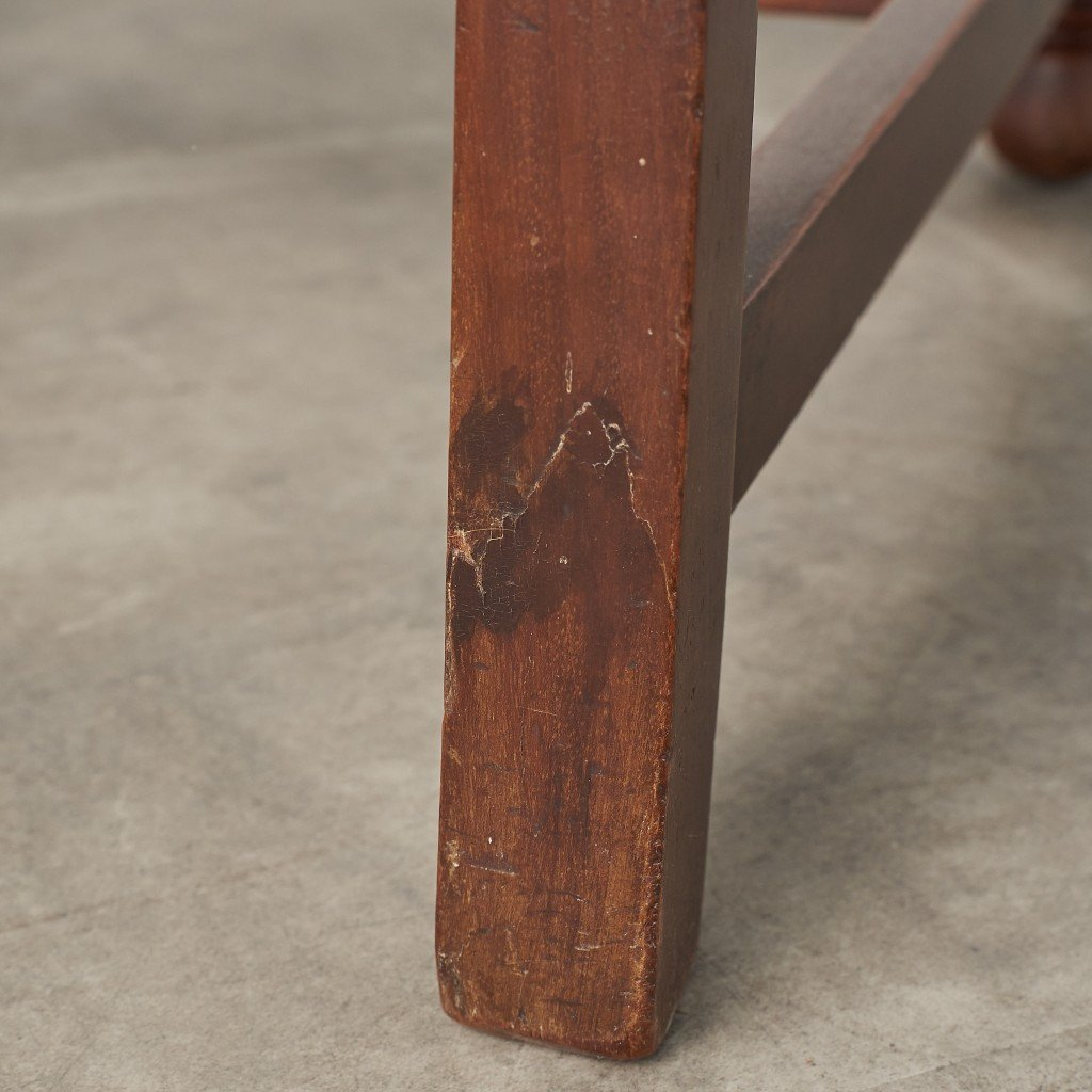 英国アンティーク ハイバックチェア4脚セット / 張替品