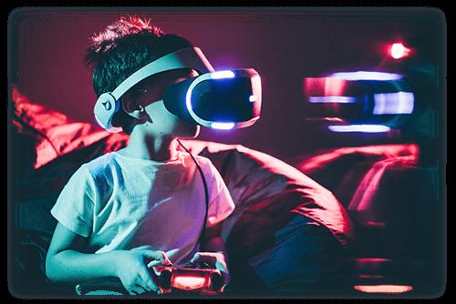 VRで遊ぶ子供