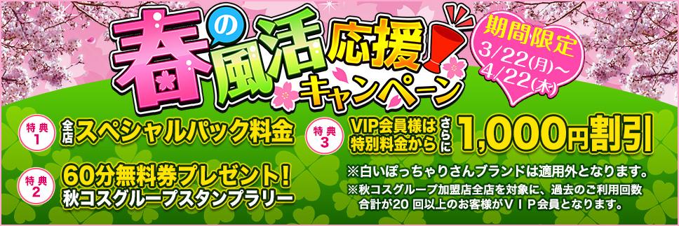 【清々しい春の季節】秋コスグループ春の風活応援キャンペーン