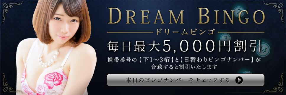 ドリームBINGOで5000円割引!