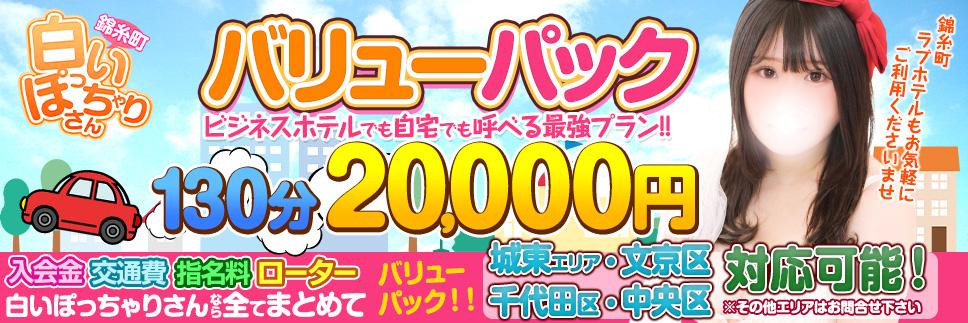 デリバリーパック130分20,000円