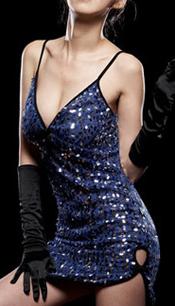 ブルーミニドレス