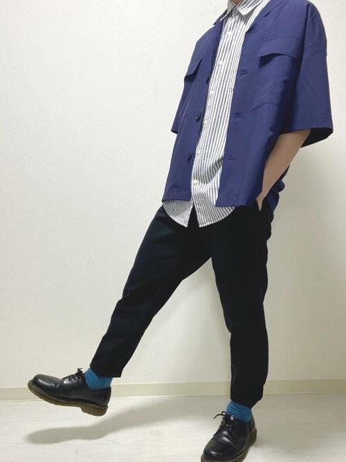 爽やかさアップ!「青の靴下」が意外と好相性