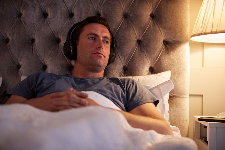 リラックスできる音楽を聴く