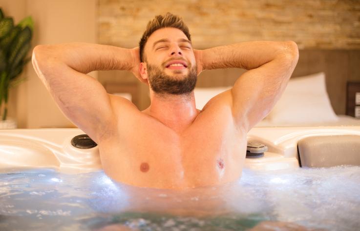 ぬるめのお風呂につかる